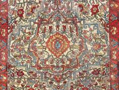 Detail of lot 520, a Sarouk Ferahan, Iran, circa 1850. Size 196 cm x 134 cm. Homm auction including carpets 24 May 2014.