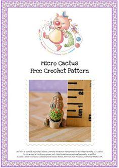 miniminimini crochet cactus pattern