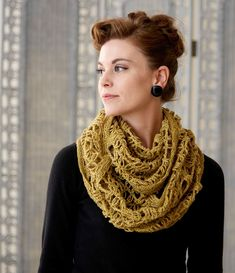 Versatile and fashionable - the perfect addition to your wardrobe. Crochet this Liberty Lace Cowl with easy step-by-step instructions.