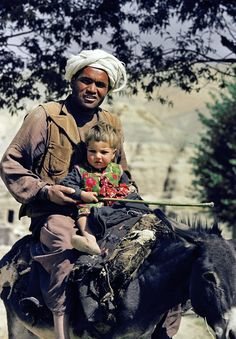Father and child on the road to Bamian, North Afghanistan. 1967