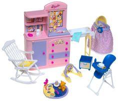 Amazon.com: Barbie Happy Family Nursery Playset: Toys & Games