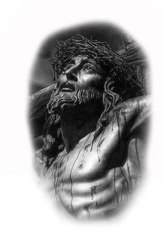 Lovely yet so serious and sad God Tattoos, Body Art Tattoos, Sleeve Tattoos, Christ Tattoo, Jesus Tattoo, Religion Tattoos, Aztecas Art, Jesus Drawings, Pictures Of Jesus Christ