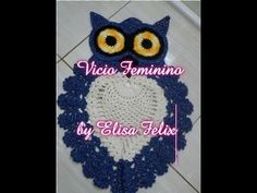 Tapete de coruja em crochê (4° parte última) #24 Vício feminino by Elisa Felix - YouTube