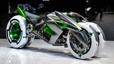 Futuristic Motorcycle, Kawasaki Built A Time Machine And Stole A Bike From The Future. I want it!!!