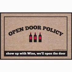 The Reverse Wine Snob: The Ultimate Gift Guide For Wine Lovers. A doormat for the #winelover.  http://www.reversewinesnob.com/2014/12/the-ultimate-gift-guide-for-wine-lovers.html