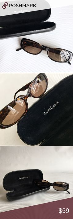 Ralph Lauren Brown Tortoise Shell Sunglasses Ralph Lauren Brown Tortoise Shell Sunglasses   In Great Condition, worn a few times. Comes with leather case as well.   Case has a few marks on the outside from being in my purse.   Retail: $98.00 Ralph Lauren Accessories Sunglasses