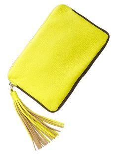 Gap Leather Tassel Clutch