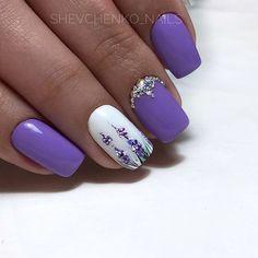 Bright fashion nails Ideas of lilac nails Nails with rhinestones Original nails Purple nails with a pattern Square nails Summer nails 2018 Summer nails to the sea Summer Nails 2018, Spring Nails, Bright Nails, Purple Nails, Lilac Nails Design, Trendy Nails, Cute Nails, Stylish Nails, Fall Nail Art Designs