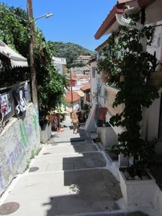 ruines in PARGA - preveza, coastal greece I haven't been there, but this photo takes me back to all the little streets in Greece that I have been on... one more time, to go, one more time.