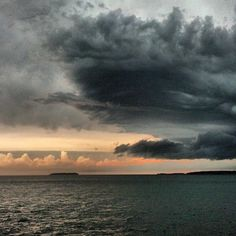 Miller Ferry Captains get the best weather photos! Thanks for sharing this great photo of Lake Erie.