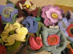 Felted Hat Flowers!