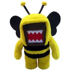 Domo 6.5 Inch Plush Figure Bumblebee Domo * See this great product. (This is an affiliate link) #Puppets