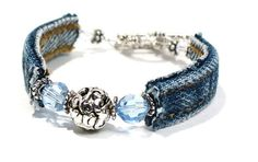 -Blue Jean Bracelet - Denim never goes out of style!