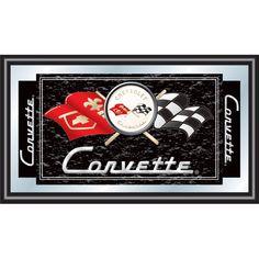 Trademark Global Corvette C1 Framed Mirror in Black - GM1500B-C1-COR - Framed Art - Wall Art & Coverings - Decor