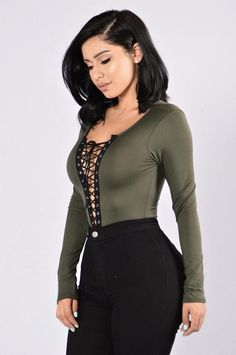 Playhouse Bodysuit - Olive