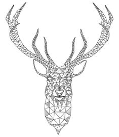 geometric deer tattoo inspiration