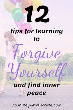 Learn how to forgive yourself and move on with your life. Treat yourself kindly and use my 12 best tips for self forgiveness. Business Motivational Quotes, Business Quotes, Inspirational Quotes, Self Development, Personal Development, Country Music Quotes, Finding Inner Peace, Negative Self Talk, Self Improvement Tips