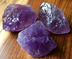 "Raw Amethyst Crystal (2"" - 3"") - AA Grade from Brazil"