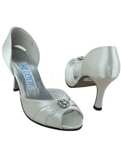 Ivory Satin Rhinestone Wedding Sandals - Wedding  Shoes