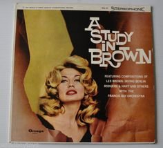 FRANCIS-BAY-ORCHESTRA-A-Study-in-Brown-LP-Record-CHEESECAKE-COVER-Jazz