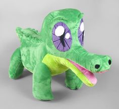 A completely hand-drafted plushie of Gummy from My Little Pony: Friendship is Magic. Who wouldn't love a toothless alligator?