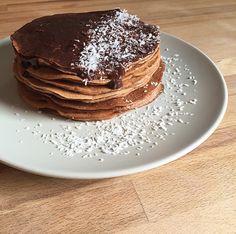 Pancakes coco-chocolat