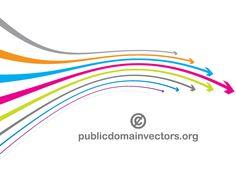 Colorful wavy arrows  free vector.. More Free Vector Graphics, www.123freevectors.com