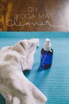 DIY yoga mat cleaner | Delightfully Tacky