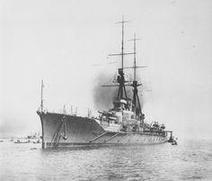 Battlecruiser Haruna at Kobe, Japan, 24 Apr 1915
