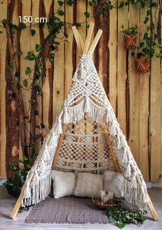Diy Teepee, Diy Tent, Macrame Art, Macrame Projects, Kids Wigwam, Do It Yourself Inspiration, Led Neon Signs, Macrame Patterns, Diy And Crafts