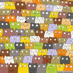 This owl and cat drawing is the mind-boggling sequel to the 'find the panda' puzzle Hidden Images, Hidden Pictures, Ache O Gato, Puzzle Photo, Illustrator, Can You Find It, Wheres Wally, Christmas Puzzle, Christmas Quiz