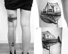 Macarena Sepulveda - Santiago, Chile. #dotwork #tattoo #anchor #black