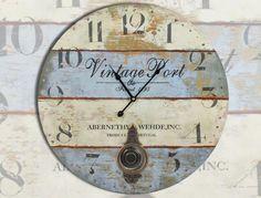 Relojes de pared retro.