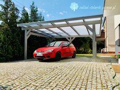 Wolnostojąca wiata garażowa z dachem z poliwęglanu komorowego Pergola, Outdoor Structures, Outdoor Pergola, Arbors