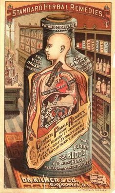 Patent medicine      Complete female remedy  They purify blood  the nerves  ( 2x posted)    Dr, Kilmer & Co, Binghamton, N.Y.