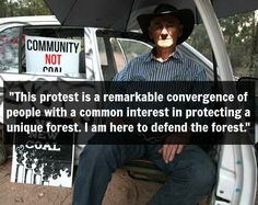 Inspirational! Among those risking arrest in #MaulesCreek today is 75-year-old Raymond McLaren from Tamworth