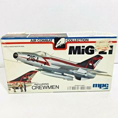 Vintage 1977 MPC MIG 21 Airplane Model Kit W/crewman Parts Scale for sale online Plastic Model Kits, Plastic Models, Model Kits For Adults, Us Navy Aircraft, Mig 21, Model Building Kits, Model Hobbies, Model Airplanes, Scale Models