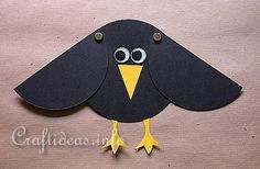 idea, scarecrow craft, raven kids craft, craft projects, crows, birds, paper crafts, kid craft, paper plates