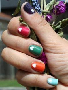 Funky and Simple Nail Art Ideas - funky, yet easy nail art ideas to interest up your hands.