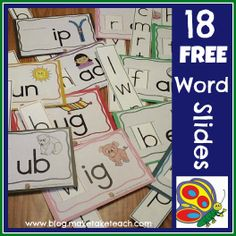 Classroom Freebies: Free Word Family Sliders