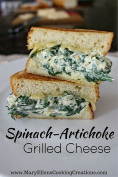 Crisp, buttery grilled bread stuffed with creamy melted Fontina cheese and a hot and bubbly spinach artichoke spread. It's like everybody's favorite party dip in a sandwich. Spinach Artichoke Dip Grilled Cheese