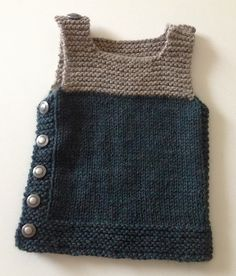 Baby Knitting Patterns Ravelry: Project Gallery for Pebble (Henry& Manly Cobblestone-Inspired Baby Vest) pattern by Ni. Baby Knitting Patterns, Baby Clothes Patterns, Knitting For Kids, Crochet For Kids, Baby Patterns, Crochet Baby, Knit Crochet, Ravelry Crochet, Crochet Patterns