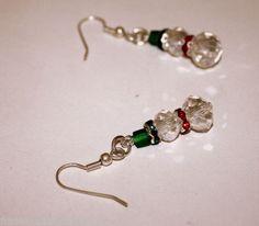 *^* Crystal Snowman Christmas Earrings *^*
