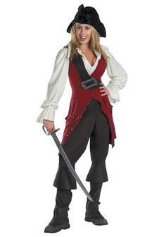 Elizabeth Swann Adult Pirate Costume $50 Whose side is Jack on at the moment? Yours, when you wear this Elizabeth Swann Adult Pirate Costume! Look for a sword in our accessories section and you'll be ready to set sail with the pirate crew of the Black Pearl. Will Jack and Will be able to find you in time?