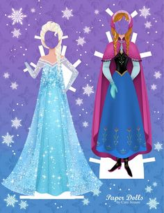 Get these Disney Inspired Frozen Paper Dolls - Free!