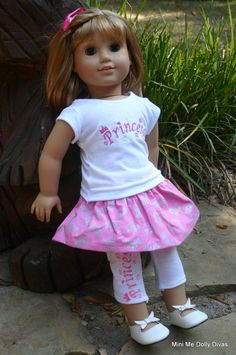 Princess 4 piece outfit for your 18 inch by MiniMeDollyDivas, $25.00