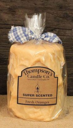 "Thompson's Candle Co Super Scented MED (18 oz) Pillar 80 Hrs ""Fresh Oranges"" #ThompsonsCandleCo"