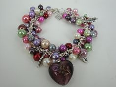 10.Crazy Bracelet  Handmade Faux Pearls Tibetan Silver by annagiles,