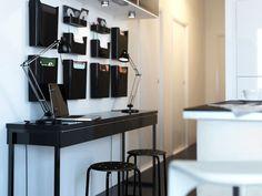 Ikea spotted bestÅ burs desk in high gloss white ribba ikea