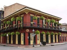 The charming Olivier House Hotel, located in the heart of the French Quarter, New Orleans.